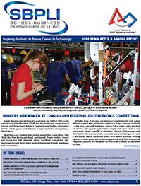Download the SBPLI-LI FIRST Robotics Competition Newsletter