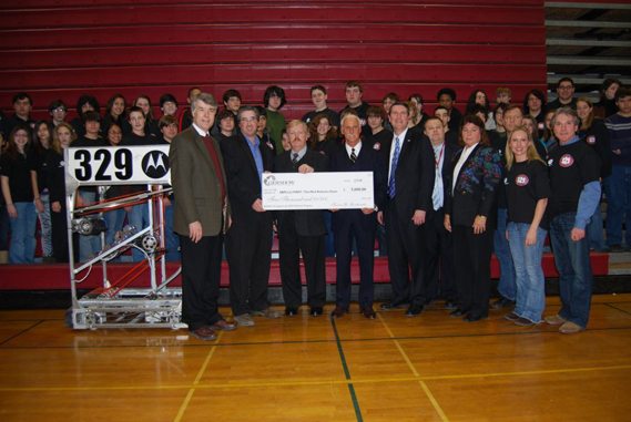 Gershow Recycling Donates $5,000 in Support of Patchogue Medford High School Robotics Team and LI Regional FIRST Robotics Competition