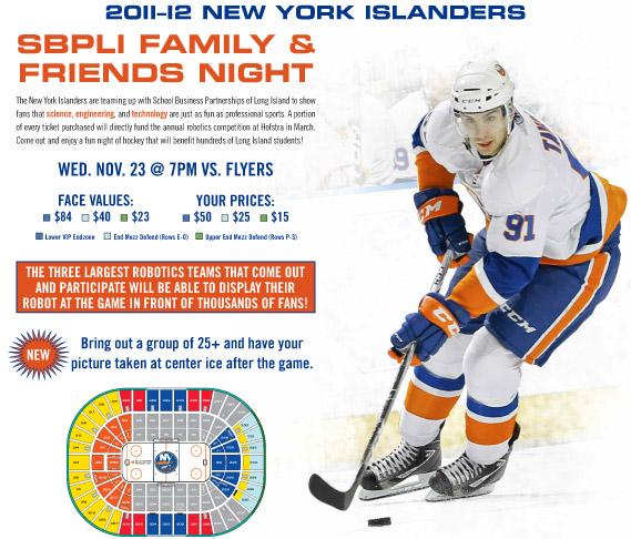 New York Islanders Host SBPLI Family & Friends Night