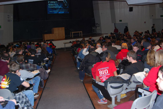 LOGO MOTION Revealed at SBPLI's 2011 First Robotics Competition Regional Game Kickoff