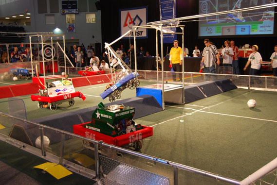 Teens Construct Robots for the Chance to Become Championships at the Long Island FIRST Robotics Regional Competition
