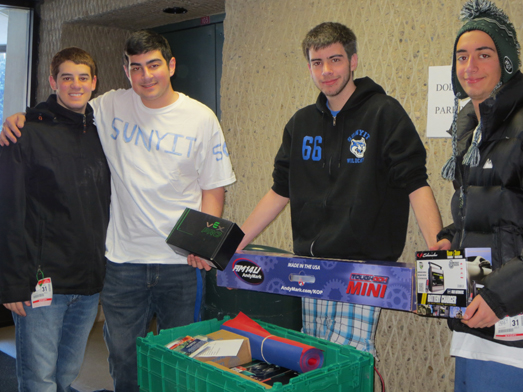 New Hartford, a rookie team, is pictured with the contents of the kit of parts.