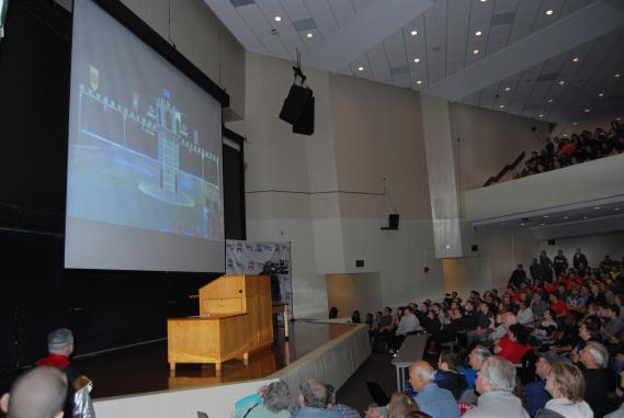 SBPLI FIRST Long Island students, educators and parents converged on the Jacob Javits Lecture Center at Stony Brook University for the 2016 FIRST Robotics Competition Kick-Off and Game Reveal.