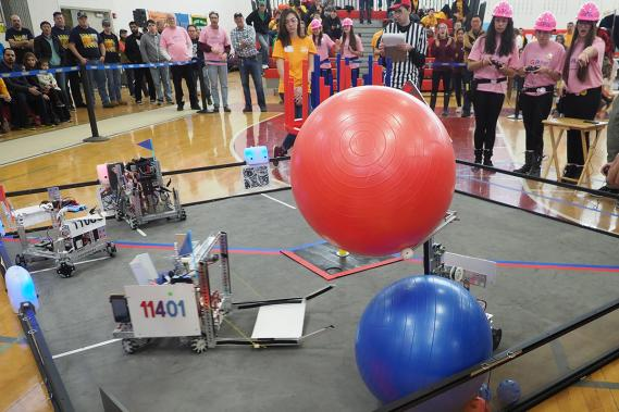 FIRST Tech Challenge Velocity Vortex - Center Moriches