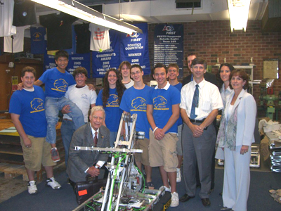 Hauppauge High School's Robotic Team Demonstrates Their Winning Design