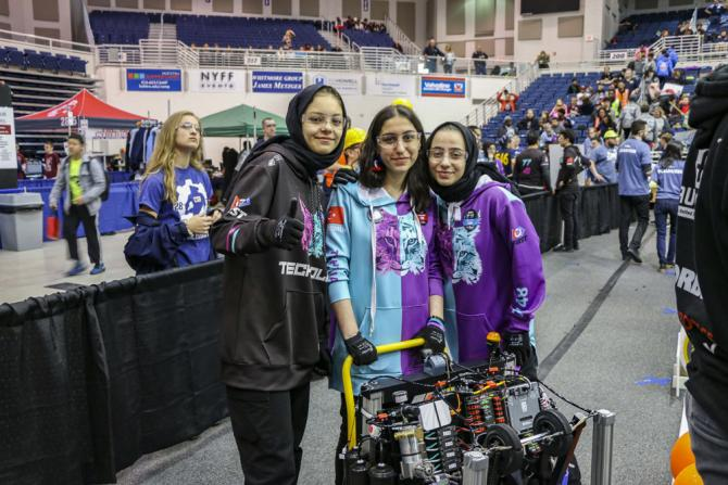 Students at our Long Island Regional FIRST Robotics Competition.