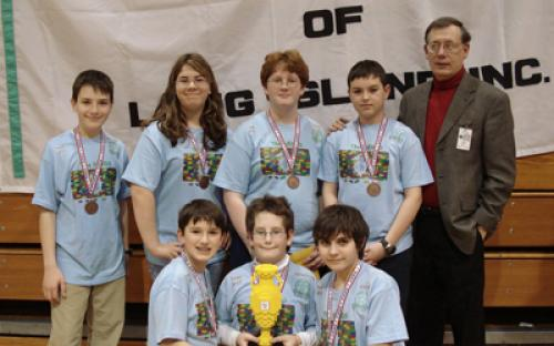 The winner of the Champion's Award was Team 17, The NERDS, from Windham, NH.